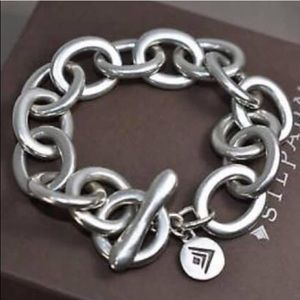 Rare Silpada Sterling Silver Link Bracelet B2189